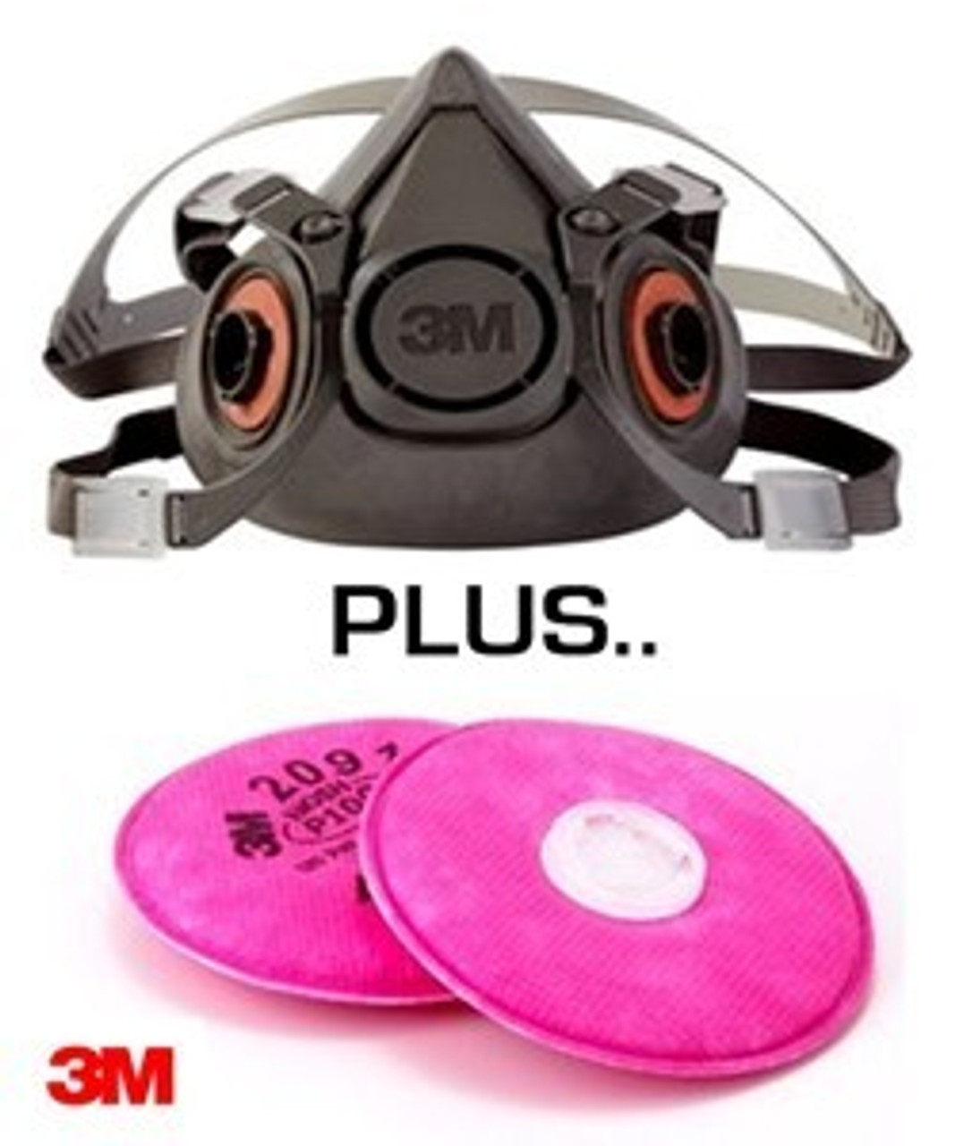 3M Half Face Respirator Mask And Two P100 Filters