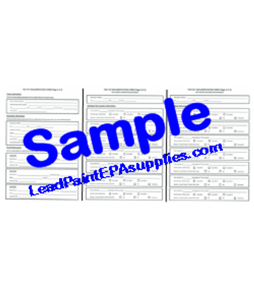 Test Kit Documentation Form, English Version. Order, Download, Save, Print