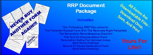 RRP Document Package, Includes 5 forms needed for Easy RRP Compliance. In English, Order, Download, Save, Print