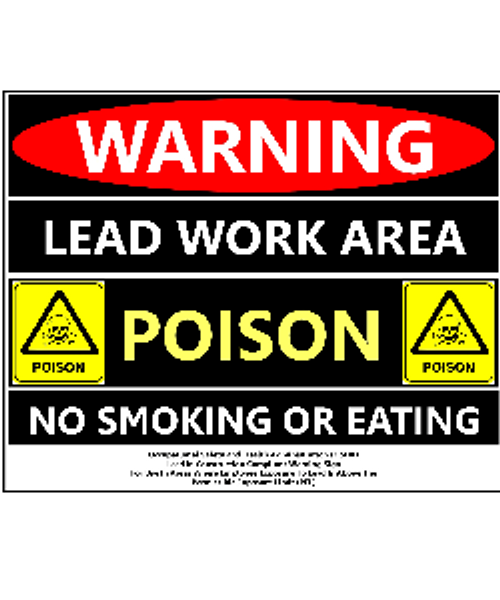 OSHA Approved Lead Work Area Sign