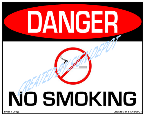 Danger, No Smoking Sign with No Smoking Logo - Downloadable Product. Never Order Signs Again - Order, Download, Save, and Print as Needed.