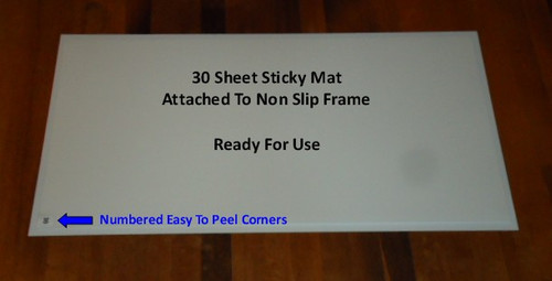 "Tacky Mat Frames for 24"" x 36"" or 18"" x 36"", with non slip backing from http://www.LeadPaintEPAsupplies.com"