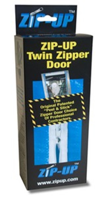 Zip-Up Twin Zipper Door Zippers.  Used For Creating A Temporary Containment Area - Two Complete Zippers In Each Box