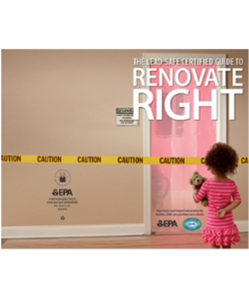 Renovate Right Brochure FREE From LeadPaintEPAsupplies.com, In English, Black & White, Landscape Printing Preference, No Charge, Place in cart and checkout - no payment required, no credit cards needed!!