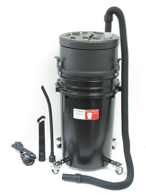"""Atrix High Capacity 7 Gallon HEPA Lead Dust Vacuum - includes 2 18"""" Wands and air driven Power head"""