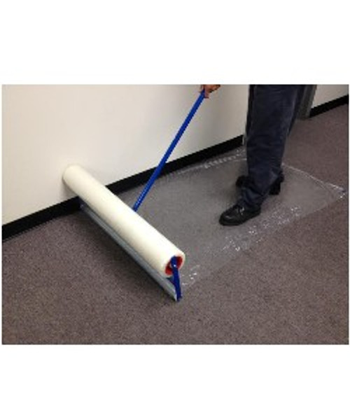 Carpet Film Applicator for 24 inch x 200 foot roll of film, Roll out film to protect carpet easily in your work areas.