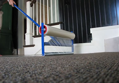 Carpet Film Applicator for 36 inch x 200 foot roll of film, Roll out film to protect carpet easily in your work areas.