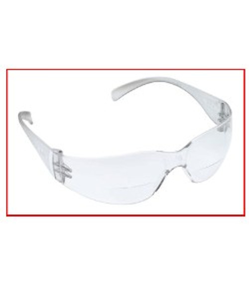 3M Virtua Max Safety Glasses with +2.0 Diopter lens with clear poly carbonate lenses - 1 pair