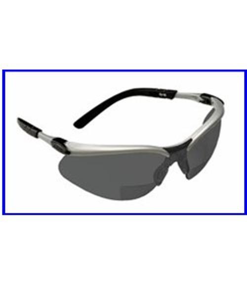 3M BX Reader +2.0 Diopter Lens Safety Glasses, Gray, Hard Coat Lens - 1 pair