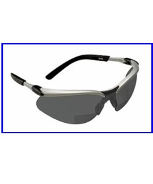 3M BX Reader +2.5 Diopter Lens Safety Glasses, Gray, Hard Coat Lens - 1 pair