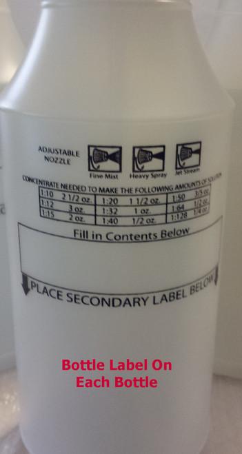 Spray Bottle, Reusable, 32oz, 4 Bottles, Multi Color Tops, Wide Mouth