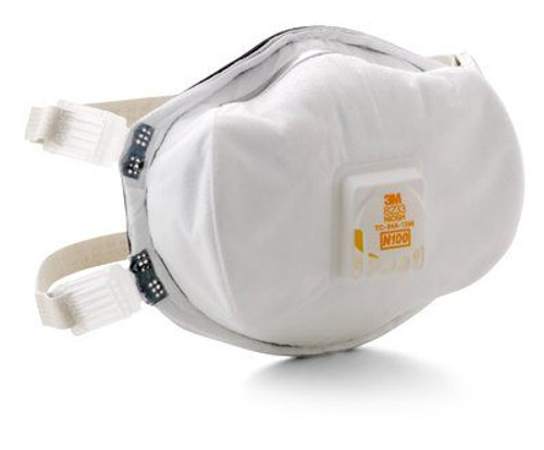 3M Disposable N100 Particulate Respirator Mask, Rated For RRP Use