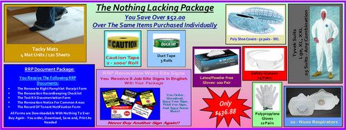 The Nothing Lacking Package For Lead Based Paint Clean Up at http://www.LeadPaintEPAsupplies.com