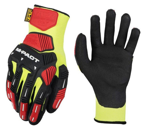 Mechanix Gloves, M-Pact ANSI Cut Resistant, Wide Elastic Cuff, Medium