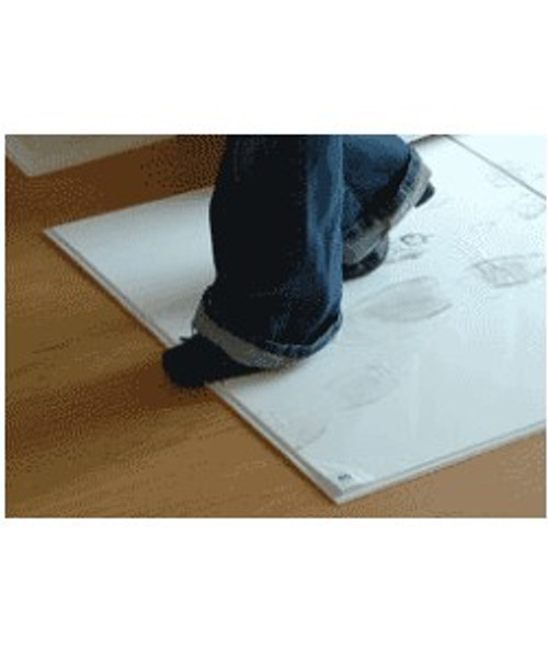 18 X 36 WHITE STICKY MATS FOR CONTAMINATION CONTROL. FOUR PADS, 120 PEELABLE SHEETS