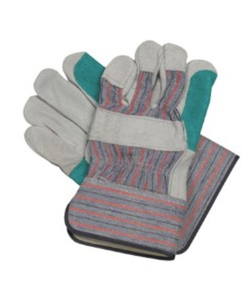 Leather Work Gloves For General Purpose & Demolition, 5 Pair of Large Gloves - 10 gloves total