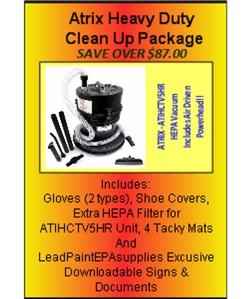 The Atrix Heavy Duty Package For Lead Based Paint Clean Up at http://www.LeadPaintEPAsupplies.com