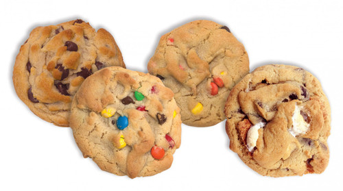 Variety Pack 1 ... 3 Chocolate Chip, 3 M&M, 3 Reeses Pieces, 3 S'more