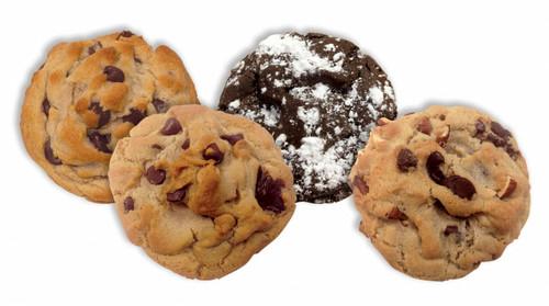 Chocolate Lovers Variety Pack ... 3 Chocolate Chip, 3 Peanut Butter Chip Chocolate Chip, 3 Chocolate Chocolate Chunk, 3 Dark Chocolate Almond
