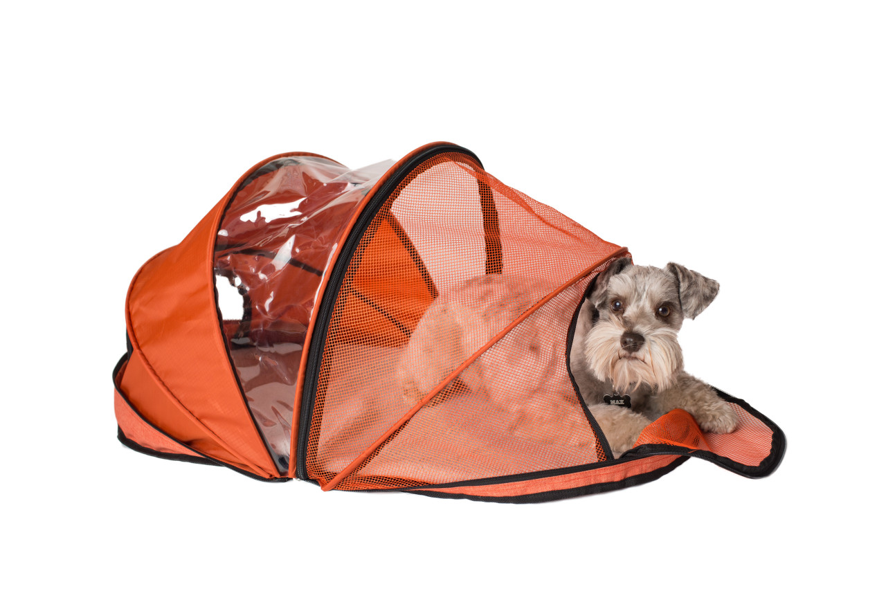 Armarkat Model PC401O SportPet Designs Orange Folding Pet Carrier