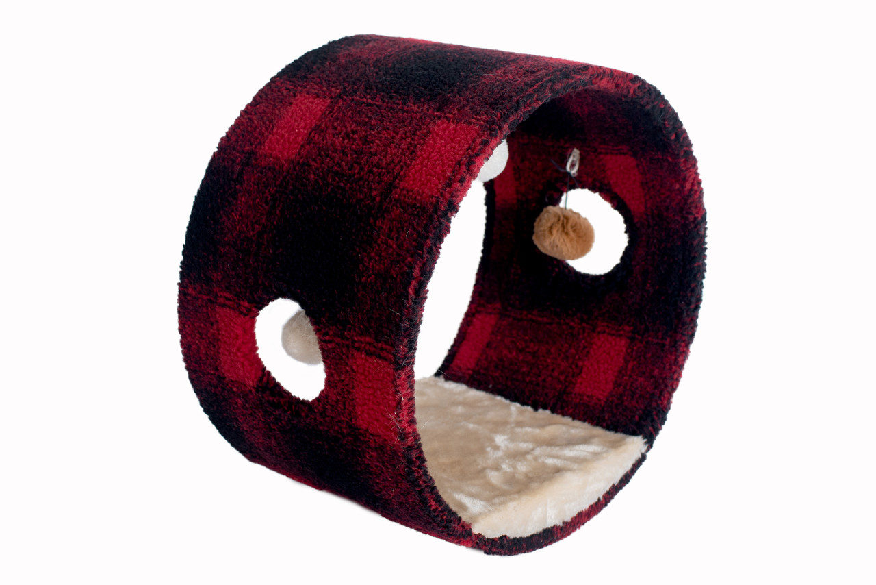 Armarkat B1601 Cat Hideaway Tunnel Scotch Plaid