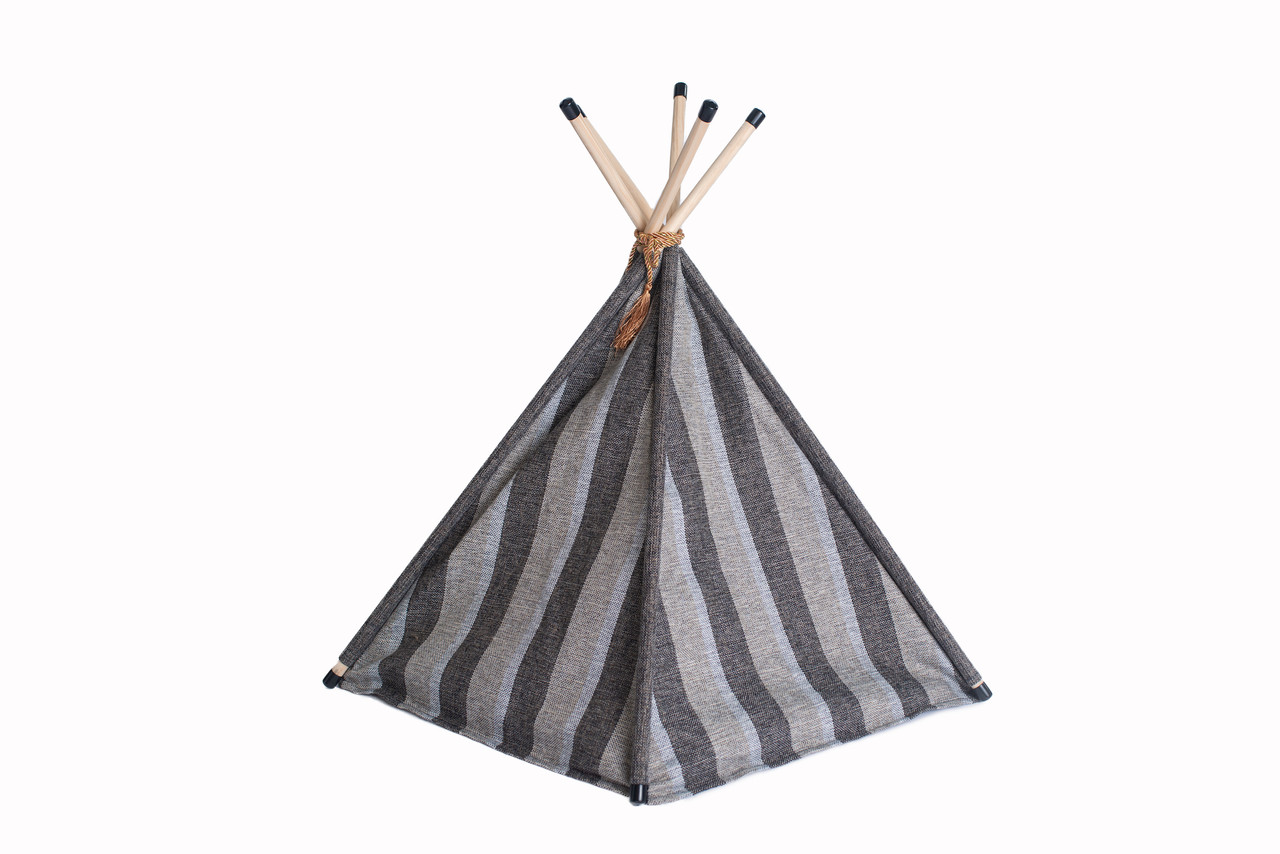 Armarkat Cat Bed Model C56HBS/SH, Teepee Style with Striped Pattern