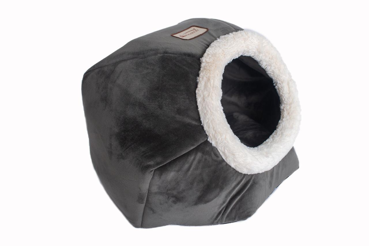 Armarkat Cat Bed Model C80CSH/MB Gray Velvet