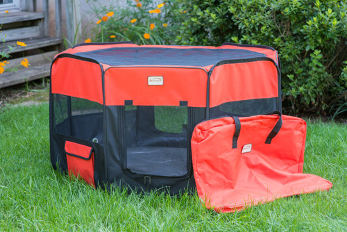 Armarkat Portable Playpen PP002R-XL Black and Red Combo