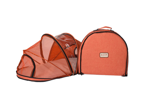 Armarkat Model PC401O Orange Folding Pet Carrier