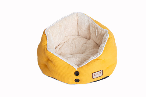 Armarkat Cat Bed Model C75HMB/MH Gold Waffle and White