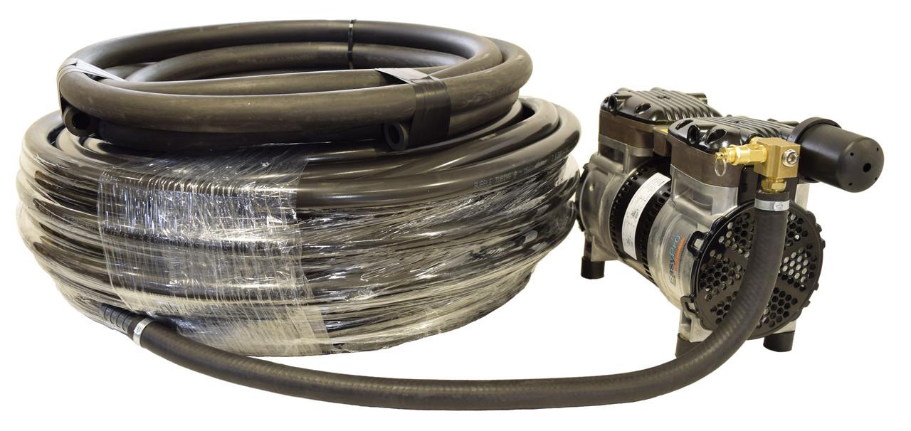 SRC50 compressor and 100 ft. bubble tubing
