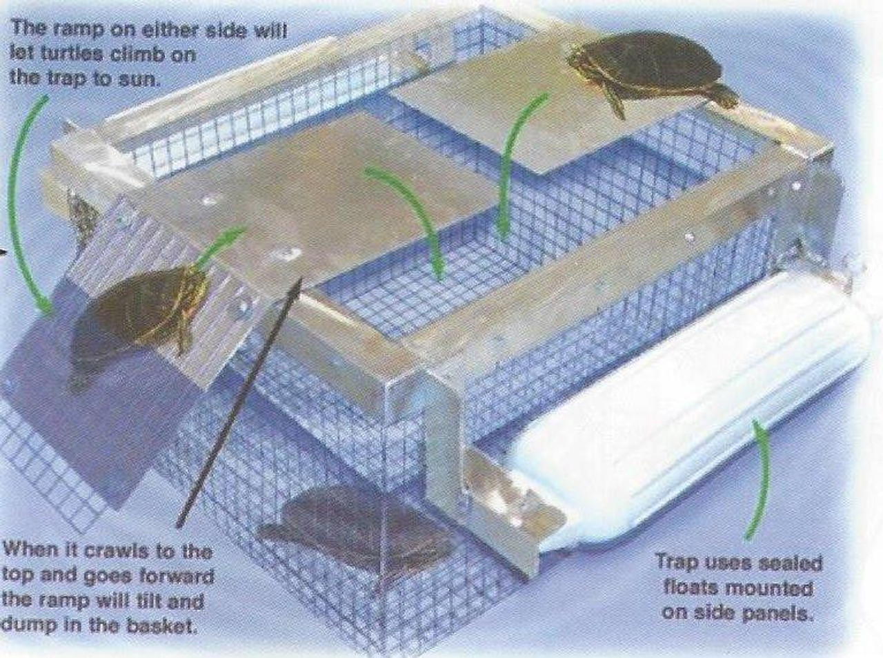 Outdoor Water Solutions TRP0328 Floating Turtle Trap