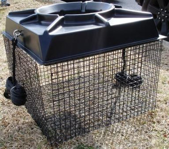 Outdoor Water Solutions FTN0289 Float Cage-1 in. x 1 in. plastic coated wire-fits the 1/2 hp, 3/4 hp and 1 hp surface aerators