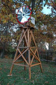 Outdoor Water Solutions Wood Backyard Windmills