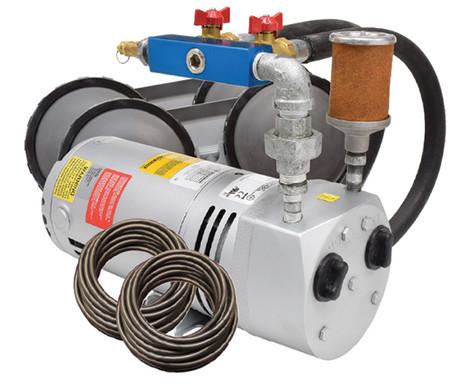 Rotary Vane Compressor Aeration Kit 1/4 HP - 1/2 - 2 Acres