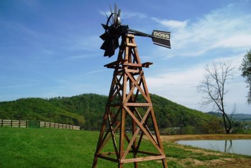 Outdoor Water Solutions Wooden Windmill Towers 16 ft.