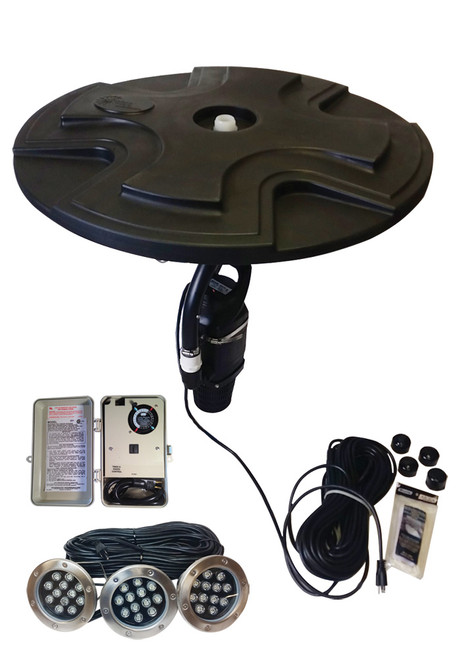1/2 HP fountain shown with light option