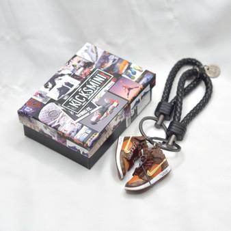 "AJ1 Customized ""Off-White X LV""  3D Sneaker Keychain"