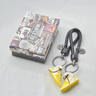 """AJ1 """"OW Canary Yellow"""" 3D Sneaker Keychain"""