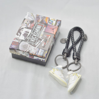 """AJ1 """"OW AJ1 Euro White"""" 3D Sneaker Keychain"""