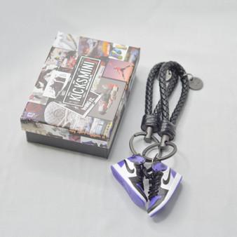 """AJ1 """"Court Purple"""" 3D Sneaker Keychain"""