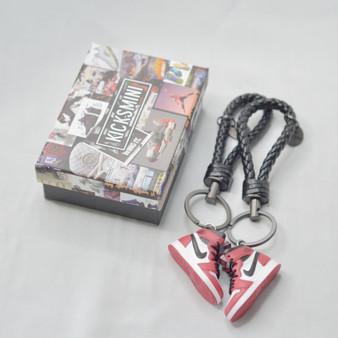 "AJ1 ""Chicago"" 3D Sneaker Keychain"