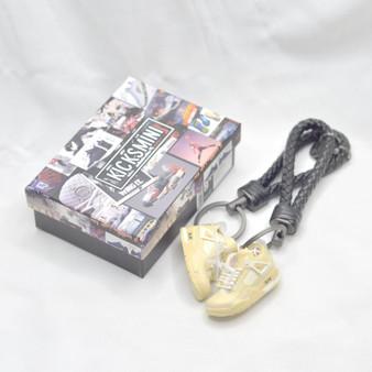 "AJ4  ""Off-White Sail""  3D Sneaker Keychain"