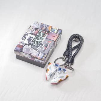"""AJ7 """"Olympic"""" 3D Sneaker Keychain"""