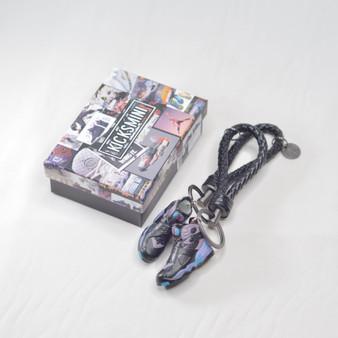 """AJ8 """"AQUA"""" 3D Sneaker Keychain"""