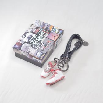 """AJ10 """"Red Steel"""" 3D Sneaker Keychain"""