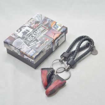 "AJ12  ""Flu Game""  3D Sneaker Keychain"