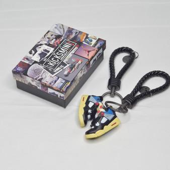 """AJ4  """"Union Off Noir""""  3D Sneaker Keychain"""