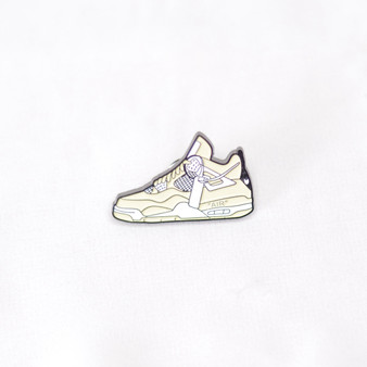 Hypebeast AJ4 Off White Sail Sneaker Pins