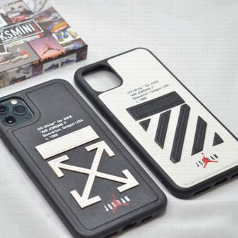 "OW x AJ ""The Ten"" Leather Textured iPhone Cases"